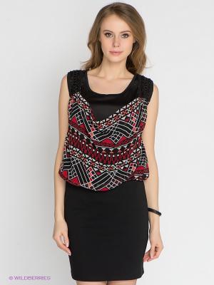 Платье Vero moda. Цвет: черный, красный, белый
