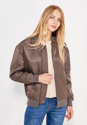 Куртка утепленная Reebok. Цвет: коричневый