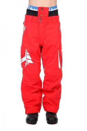 Штаны сноубордические  Park Avenue Red Picture Organic. Цвет: красный
