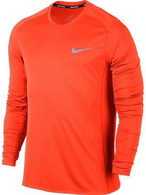 Лонгслив M DRY MILER TOP LS Nike. Цвет: оранжевый