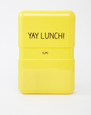 Happy Jackson Контейнер для завтрака Yay. Цвет: желтый