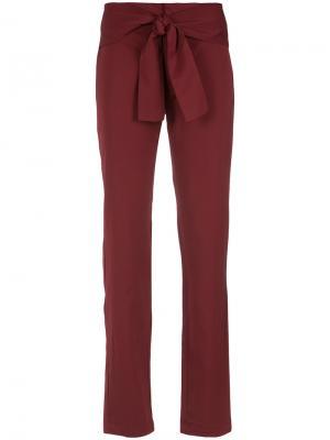 Belted stright trousers Uma | Raquel Davidowicz. Цвет: красный