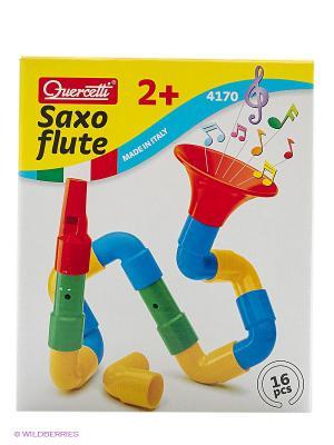 Набор Саксофлейта из 16 элементов для создания собственного духового музыкального инструмента. Quercetti. Цвет: красный, желтый, синий, зеленый