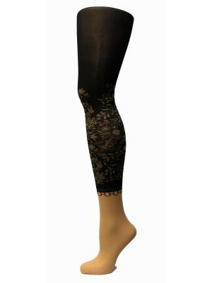 Колготки Фантазия, модель ADELE 03 MONA. Цвет: темно-коричневый, светло-коричневый