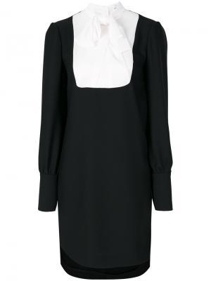 Платье шифт с бантом Carven. Цвет: чёрный