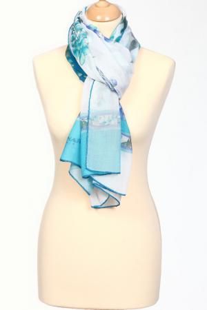 Палантин Leonard. Цвет: белый, синий, голубой