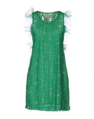 Короткое платье HEIMSTONE. Цвет: зеленый