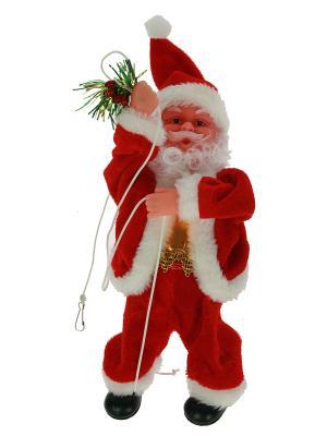 Игрушка механич. музык. Санта Клаус Русские подарки. Цвет: красный, белый