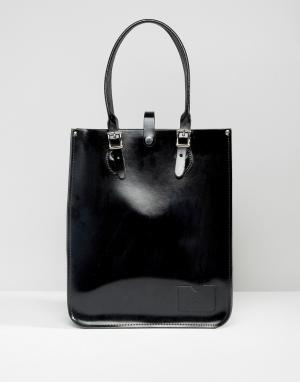 Leather Satchel Company Сумка-тоут. Цвет: черный
