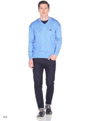 Пуловер BELLAVIA. Цвет: голубой