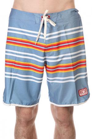 Шорты пляжные  Whipper Bst Lost. Цвет: голубой,мультиколор