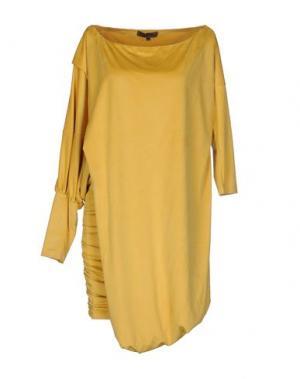 Короткое платье MARIAGRAZIA PANIZZI. Цвет: желтый