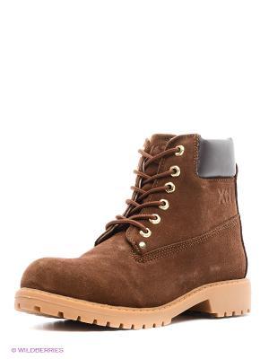 Ботинки XTI. Цвет: темно-коричневый