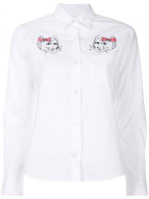 Рубашка с вышивкой Gattini Jimi Roos. Цвет: белый