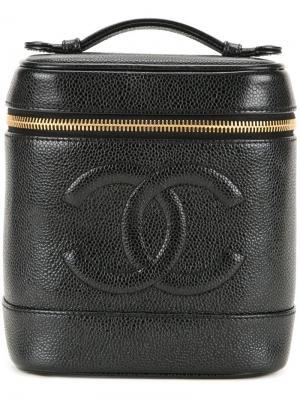 Несессер с логотипом CC Chanel Vintage. Цвет: чёрный