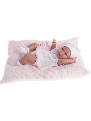 Кукла-младенец Ника в розовом, 42см Antonio Juan. Цвет: бледно-розовый