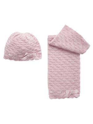 Комплект: шапка и шарф CHICCO. Цвет: розовый