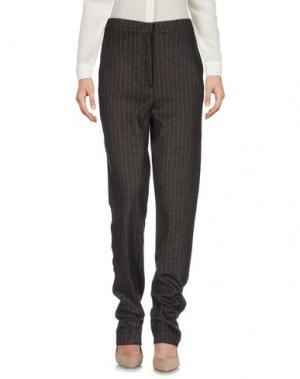 Повседневные брюки ROBERTO COLLINA. Цвет: темно-коричневый