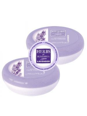 Набор: Питающий крем для лица Herbs of Bulgaria Lavender, (100 мл x 2шт) Biofresh. Цвет: фиолетовый, белый