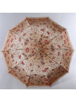 Зонт Zest. Цвет: бордовый, светло-коралловый, светло-коричневый