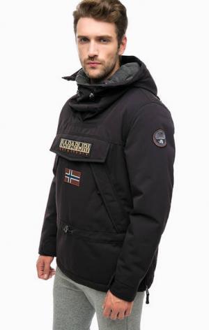 Утепленная куртка-анорак черного цвета Napapijri. Цвет: черный