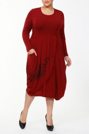 Платье STF. Цвет: бордовый