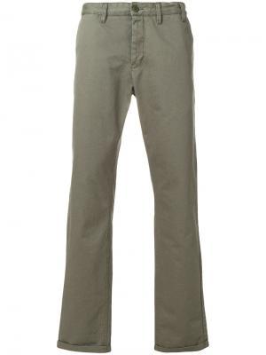 Плотные брюки-чинос Aros Norse Projects. Цвет: зелёный