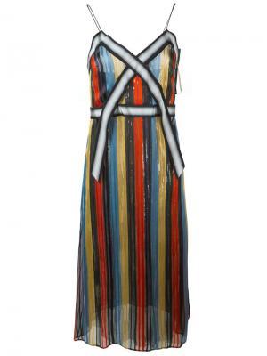 Платье в полоску Marco De Vincenzo. Цвет: многоцветный