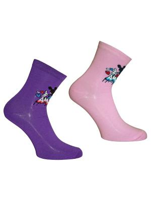 Носки 2 пары Master Socks. Цвет: розовый, сиреневый