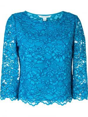 Кружевной топ Diane Von Furstenberg. Цвет: синий