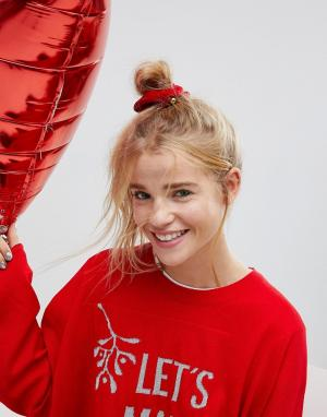 ASOS Новогодняя резинка для волос. Цвет: мульти