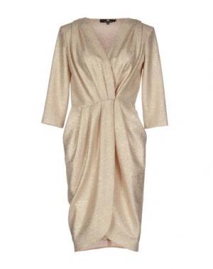 Платье до колена ELISABETTA FRANCHI. Цвет: бежевый