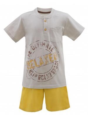 Домашние костюмы РОССИЙСКИЙ ТРИКОТАЖ. Цвет: светло-серый, оранжевый