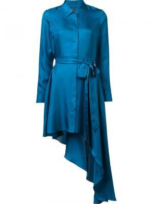 Шелковое платье Purple Haze Thomas Wylde. Цвет: синий