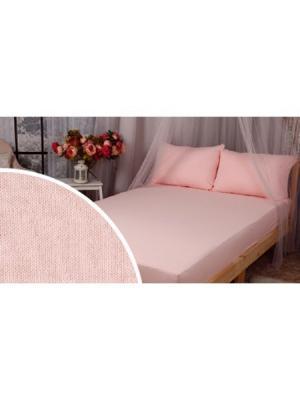 Простынь трикотаажная ЛЮКС, 90х200 (на резинке) ИП Бердников Е.Г.. Цвет: розовый