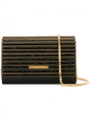 Клатч с золотистыми деталями Elie Saab. Цвет: чёрный