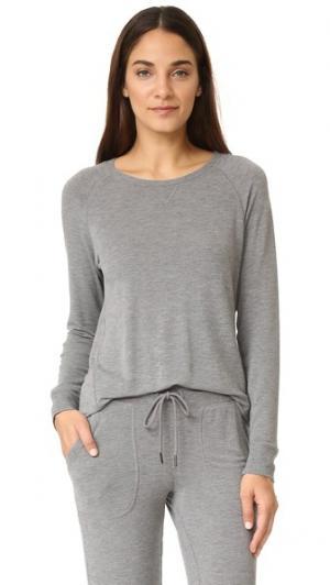 Пижамный топ PJ Salvage. Цвет: серый меланж