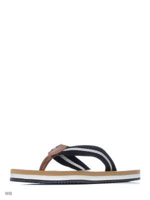 Шлепанцы GUESS. Цвет: коричневый, черный