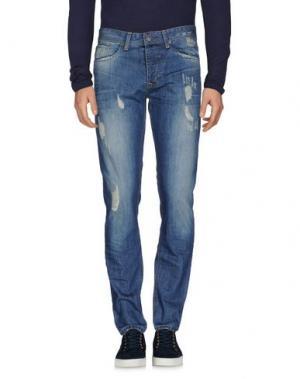 Джинсовые брюки GNIOUS. Цвет: синий