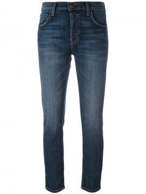 Skinny cropped jeans Current/Elliott. Цвет: синий