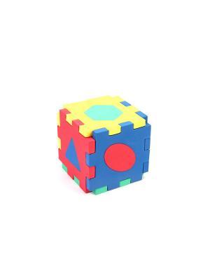 Развивающая игрушка кубик-геометрия БОМИК. Цвет: синий, зеленый, красный