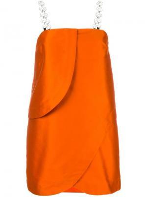 Футболка  с открытыми плечами Isa Arfen. Цвет: жёлтый и оранжевый