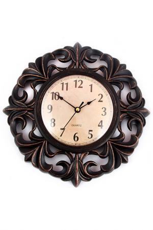 Часы настенные 25 см Русские подарки. Цвет: черный, коричневый, белый