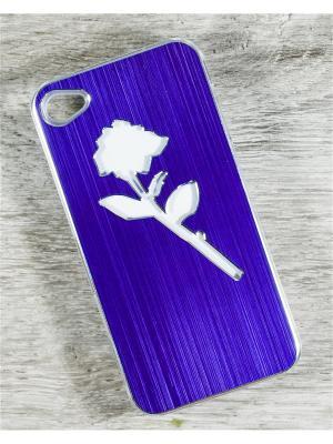 Чехол для телефона Apple iPhone 4/4s MACAR. Цвет: сиреневый