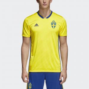 Домашняя игровая футболка сборной Швеции  Performance adidas. Цвет: желтый