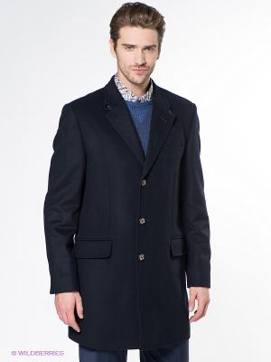 Пальто Alfred Muller. Цвет: темно-синий
