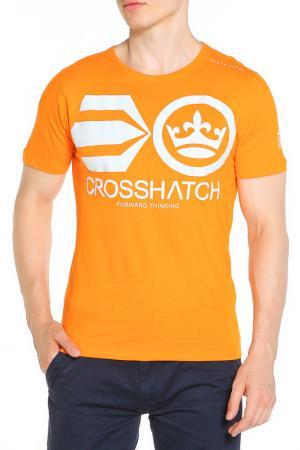 Футболка CROSSHATCH. Цвет: оранжевый