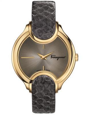 Часы Salvatore Ferragamo. Цвет: золотистый, серый