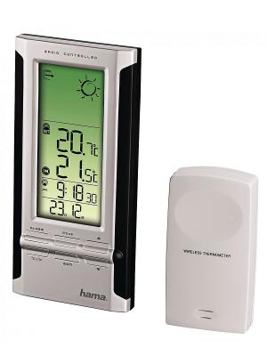 Метеостанция Hama H-104932 EWS-380  черн/серебр. Цвет: серебристый