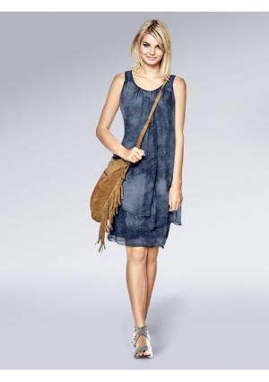 Платье B.C. BEST CONNECTIONS by Heine. Цвет: коралловый, серо-коричневый, синий деним